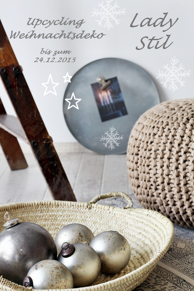 Banner für die Linkparty Upcycling Weihnachtsdeko Recycling DIY