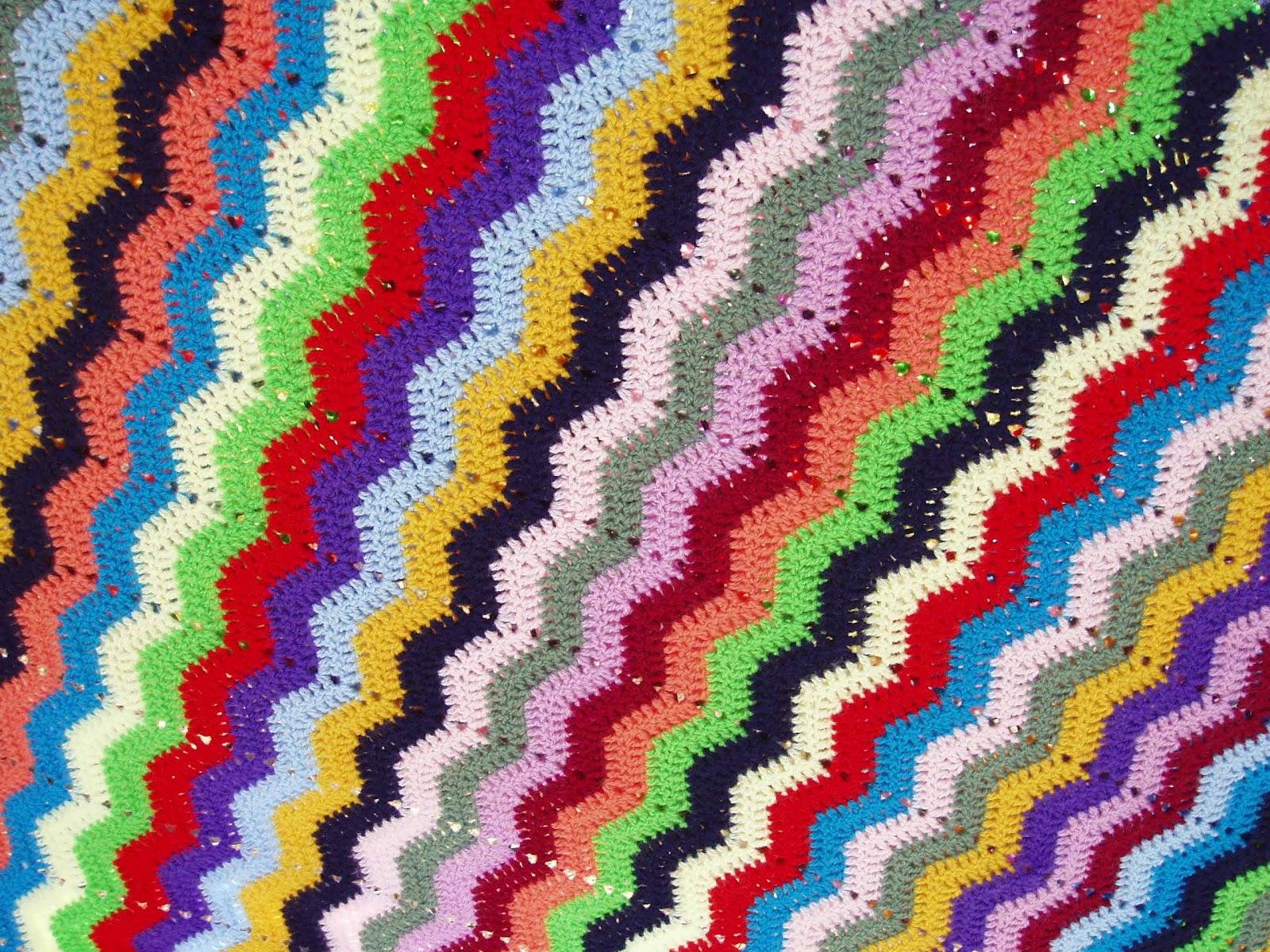 Manta ganchillo zig-zag | Espacio Crochet
