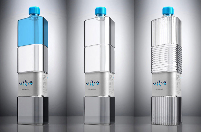 Vizio intelligent water concept on packaging of the world for Interesting bottle shapes