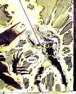 Batman #255, Batman watches in horror as a werewolf is hit by lightning, Neal Adams art