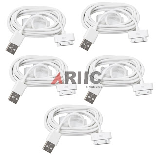 5 X USB Cable Charger Cord For iPhone 3G 3GS 4 4G 4S iPod Touch Nano Mini Video