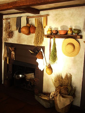 The home has 3 fireplaces and working 'beehive' oven~
