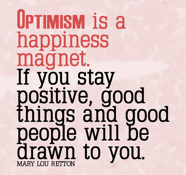inspirational picture quotes optimism is a happiness