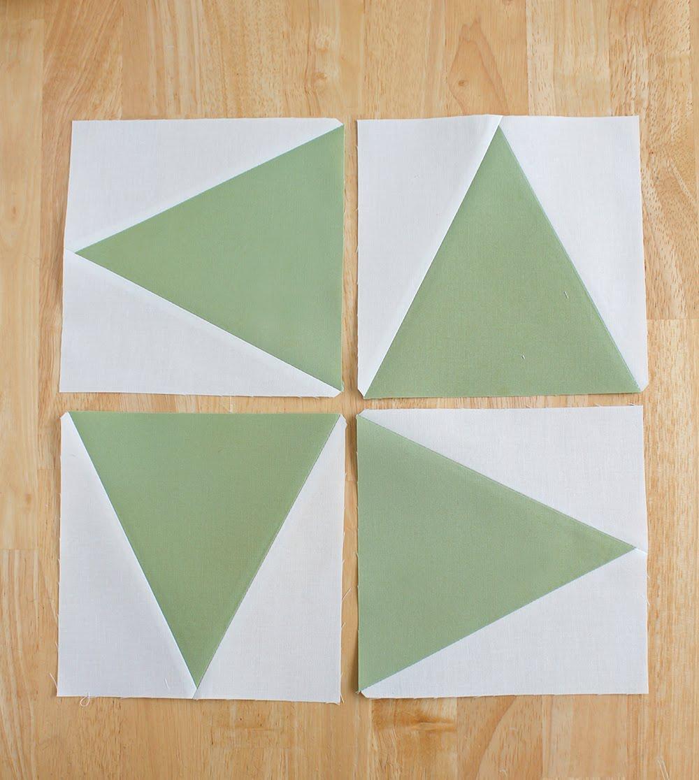 Tri-Recs EZ Quilting 2 piece ruler set to make triangles in square
