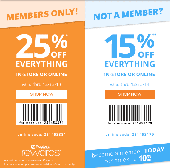 picture relating to Payless Printable Coupons referred to as Payless footwear printable coupon codes december 2018 - Price range