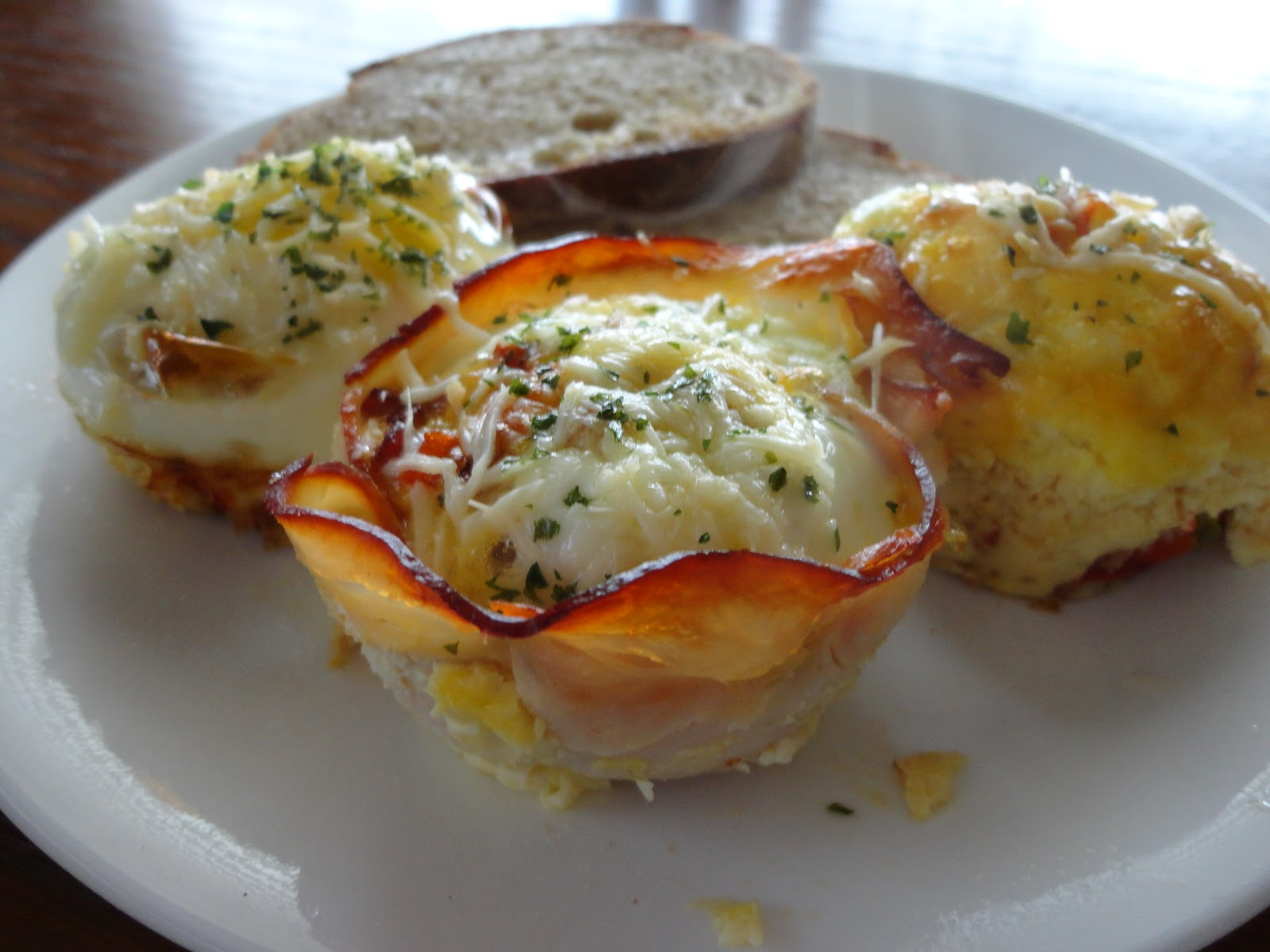 paired these egg pops with apple slices and broiled tomatoes with ...