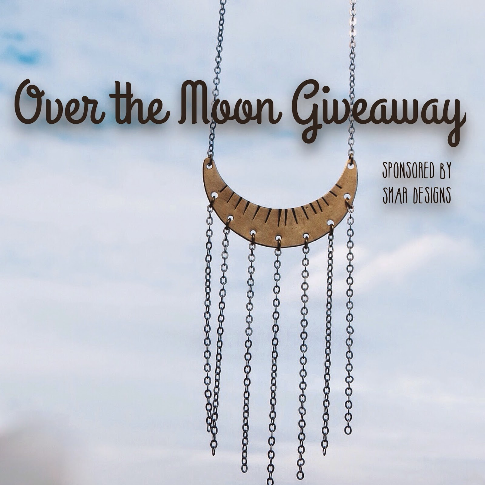 giveaway, freebie friday, sweepstakes, contest, etsy jewelry, handmade jewelry, skar designs jewelry, crescent moon necklace, boho moon necklace, bohemian jewelry, boho jewelry