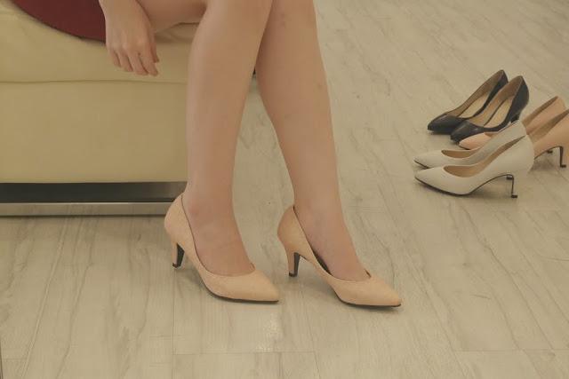 elegant covered heels