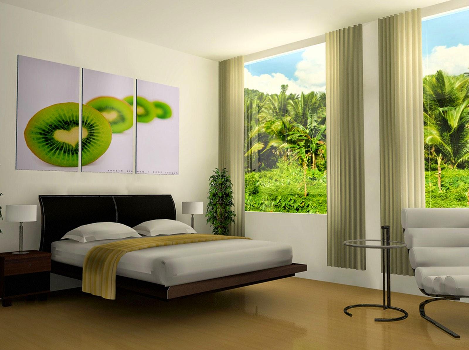 contoh desain dan cat dinding untuk kamar tidur minimalis | rumah