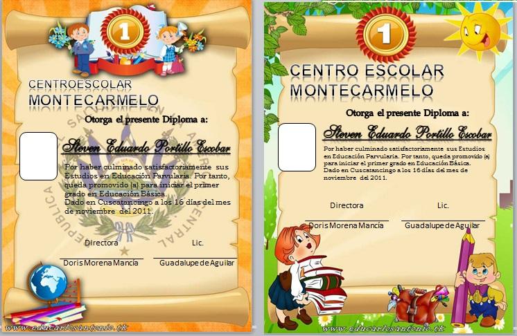 Imagenes de diplomas para editar de primaria - Imagui