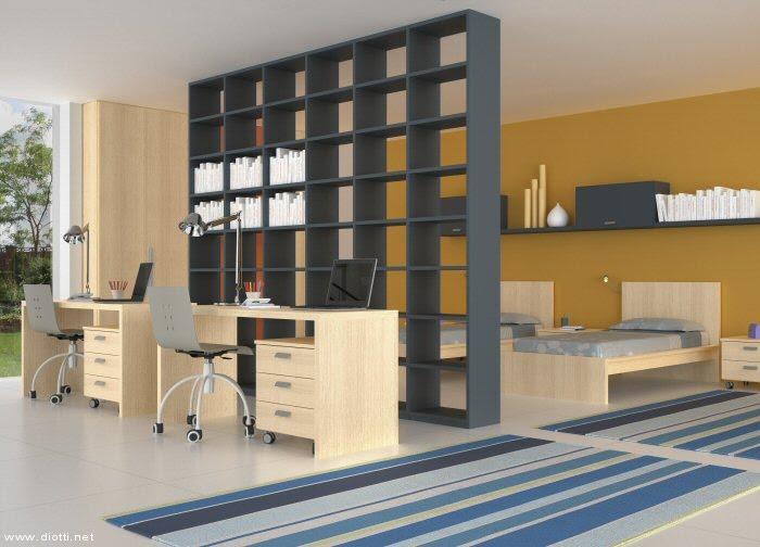 ... mobili ed arredamento dinterni: Librerie bifacciali: dividere senza