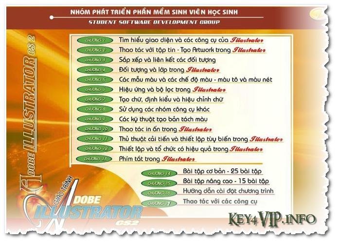 Giáo trình gồm Ebook và Video học Illustrator CS2 SSDG tiếng Việt