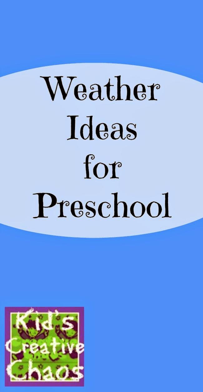 Weather Ideas for Preschool.