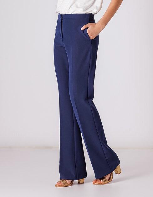 pantalón pinza azul marino