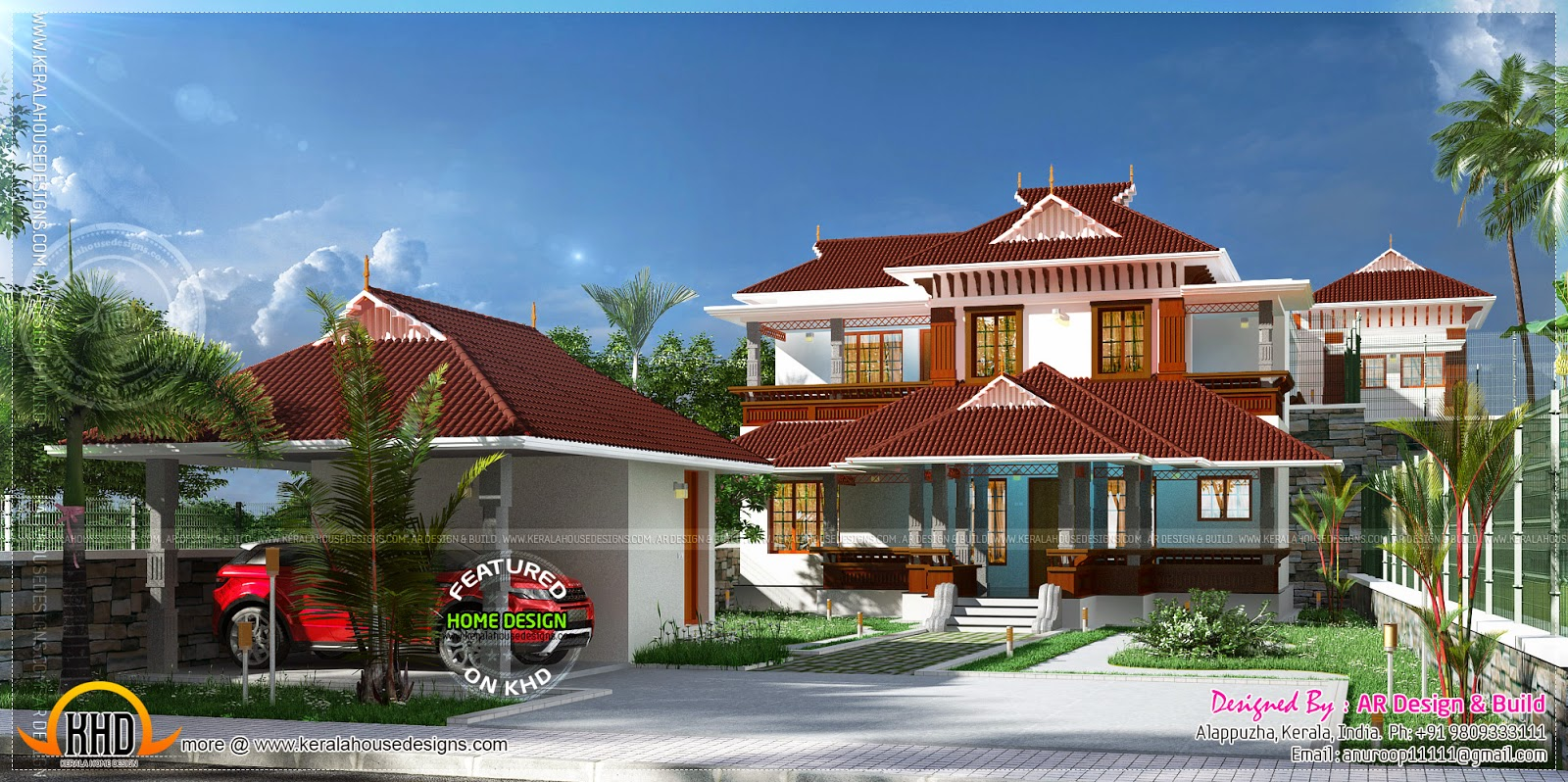 Kerala Style House With Separate Car Porch Kerala Home