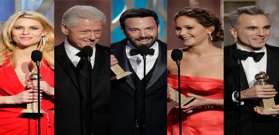 Character of Golden Globe winners: Oscar movies