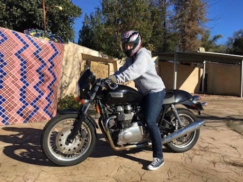 Riding my brother's Triumph