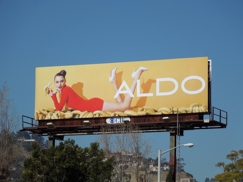Aldo bananas billboard