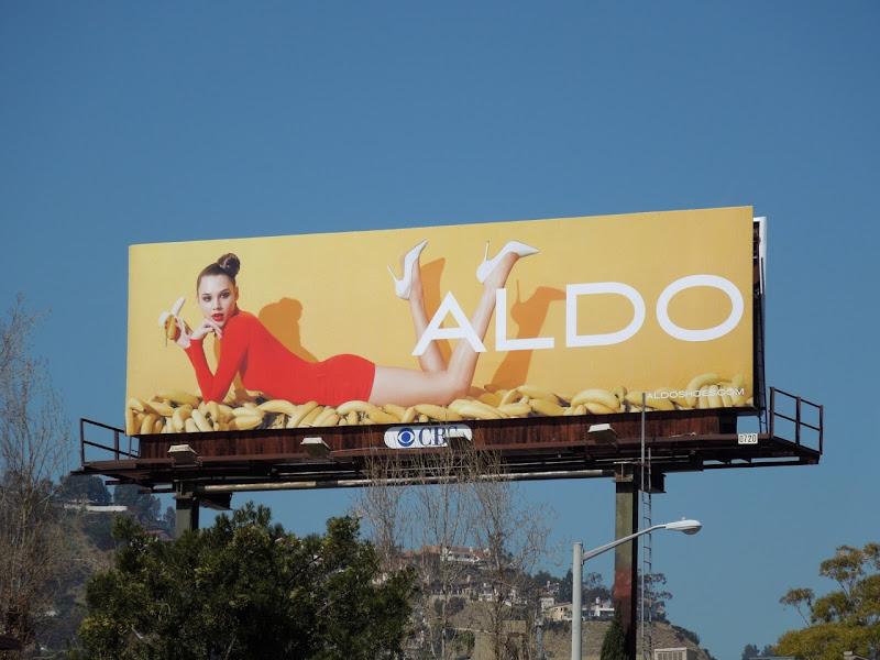 Aldo bananas billboard
