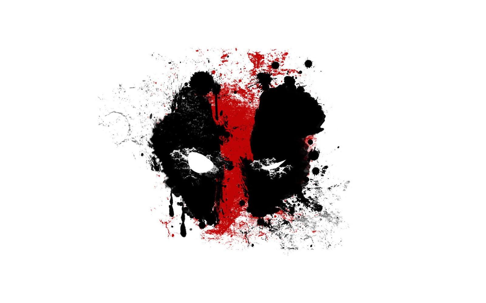 Deadpool Logo Comic Marvel Heroes Superhero White Background HD Wallpaper Desktop PC A186