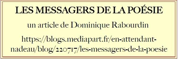 LES MESSAGERS DE LA POÉSIE
