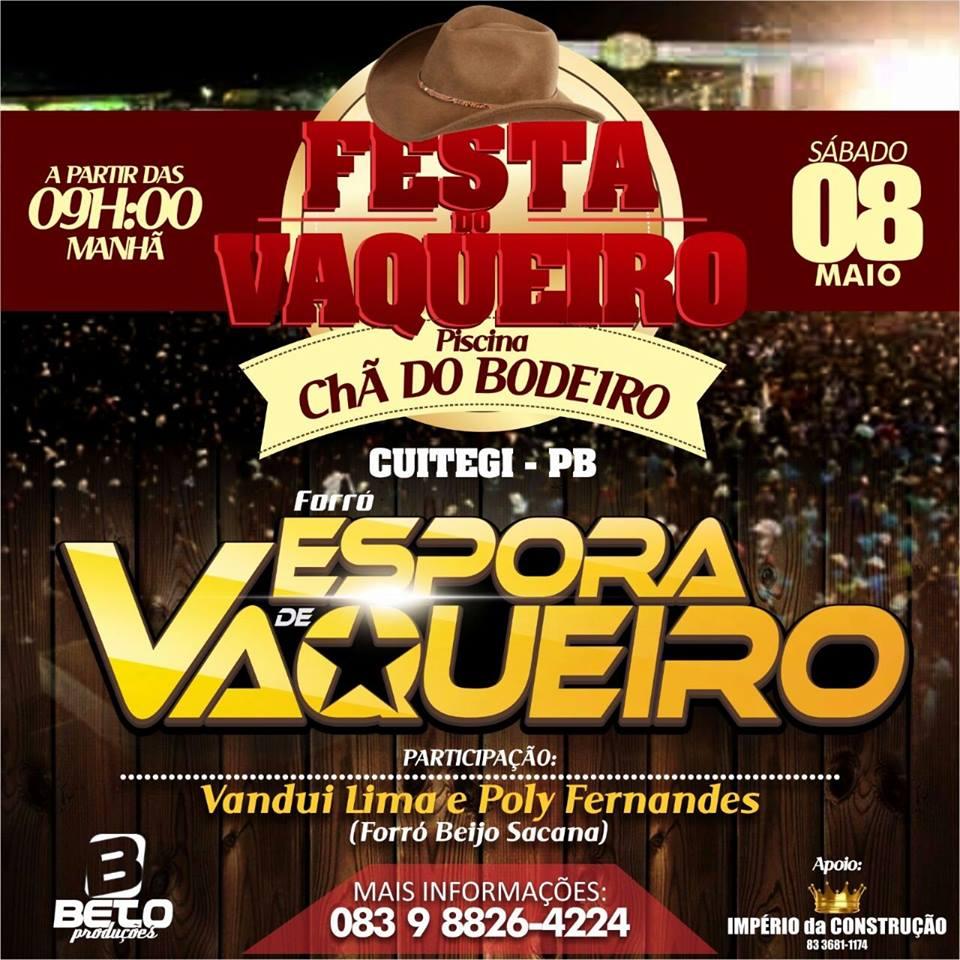 EM CUITEGI/PB: FESTA DO VAQUEIRO NA CHÃ DO BODEIRO.