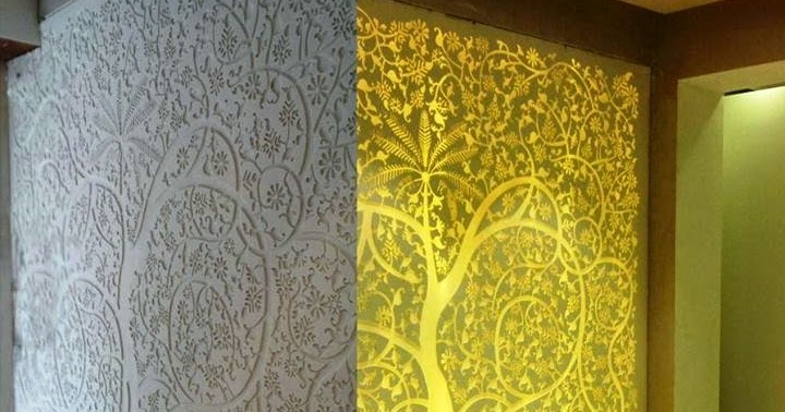 Interior and exterior acrylic and mdf jali designer world for Interior jali designs