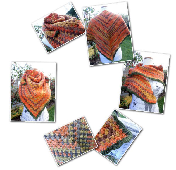 Happybee Italian Crafts and Quilts: Half Granny Square Shawl