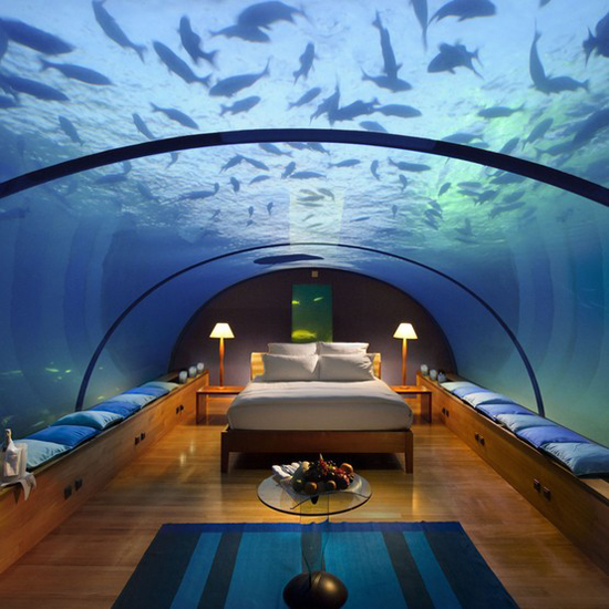 This Fantastic 5 Star Hotel In The Maldives Offers An Underwater Fun Really Special Kind Of Rooms And Restaurant Are Located Under A Huge Gl Dome