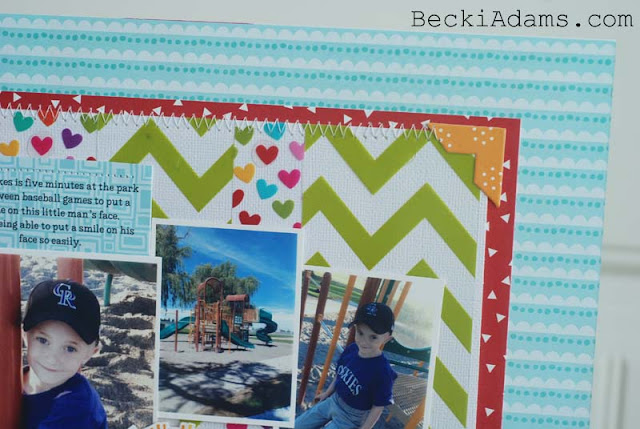 """Pure Happiness"" by @jbckadams for Bella Blvd #scrapbook #papercrafting #Bella Blvd"