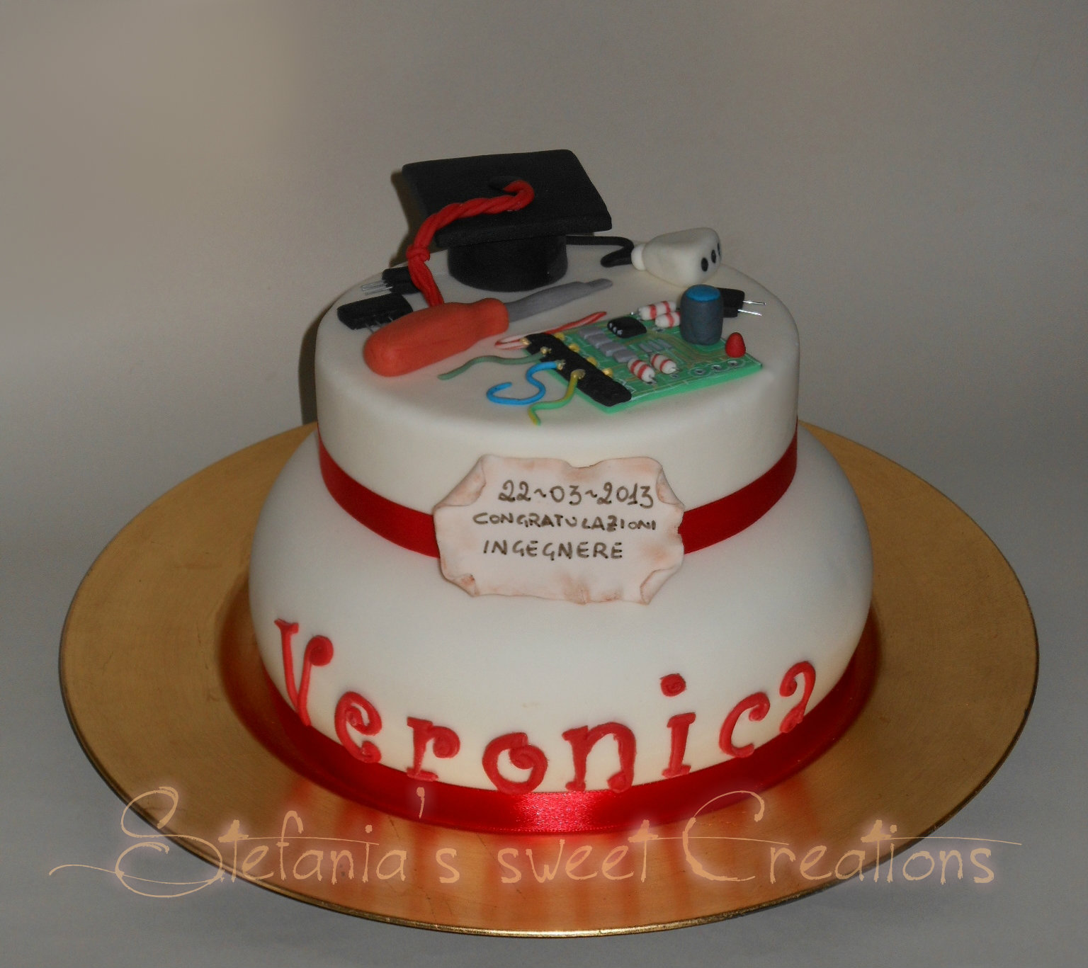 abbastanza Stefania's sweet Creations: Torta di laurea Ingegneria Elettronica IC84