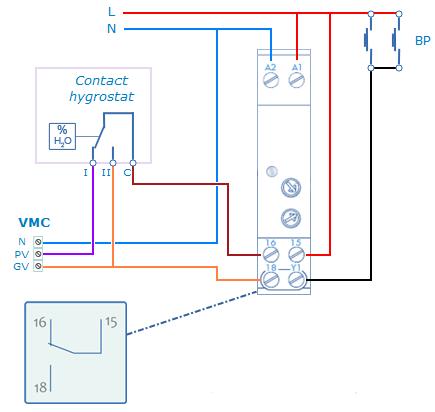 A l 39 issue de la temporisation le contact du relais revient en position 15 16 laissant de - Branchement electrique vmc ...