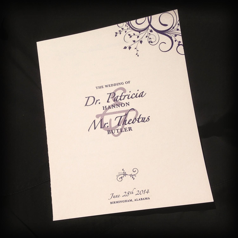 hannon butler wedding programs invitation design by morgan