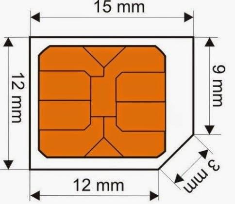Micro sim card dimensi