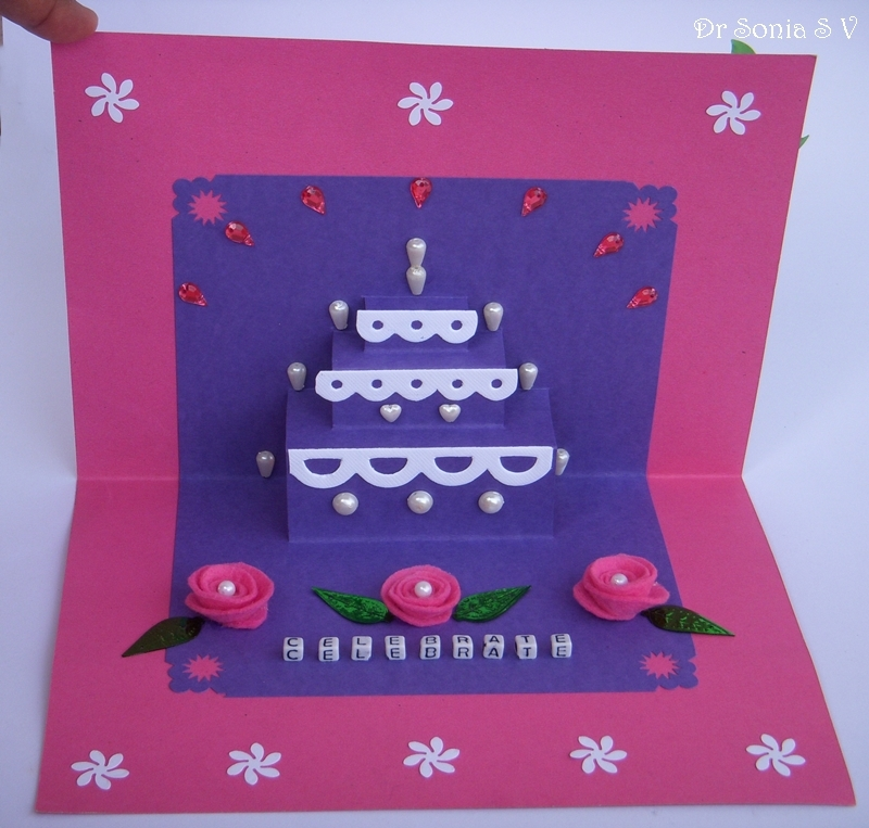 Cards Crafts Kids Projects Simple Pop Up Cake Card Tutorial