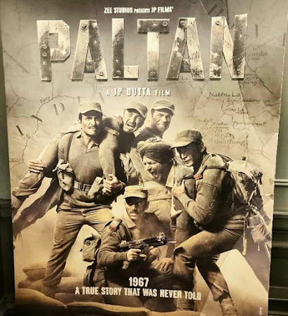Poster Of Hindi Movie Paltan 2018 Full HD Movie Free Download 720P Watch Online