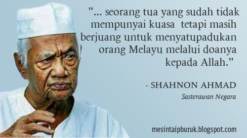 Cikgu Shahnon yang aku kenal....