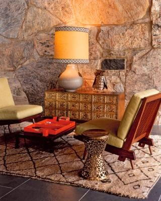 Theme inspiration retro stylish seventies trend for 70s living room furniture