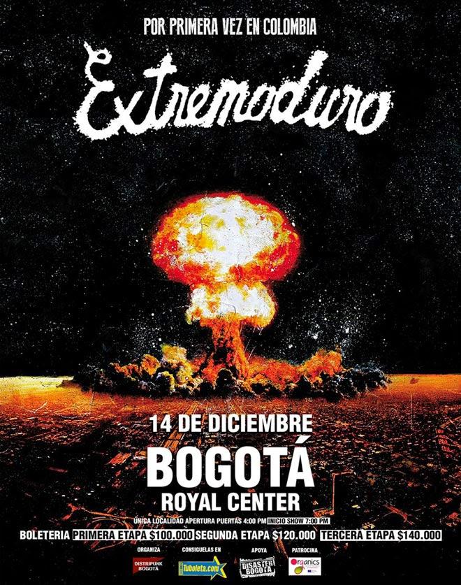 extremoduro en Bogotá 2014