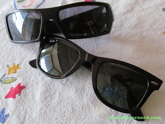 Oakley GasCan Sunglasses: With Ray-Ban Wayfarer Sunglasses