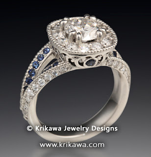 Vintage Style Split Twist Engagement Ring