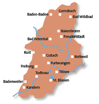 Simple Map Of Germany With Cities