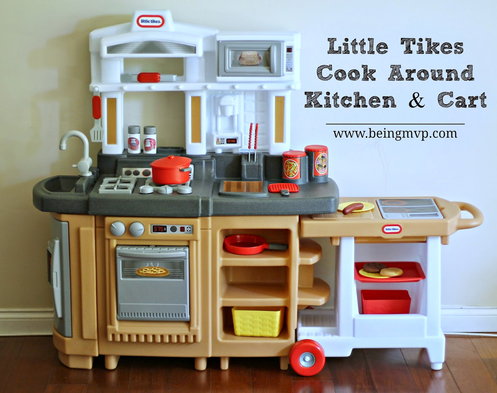 Little Tikes Play Kitchen With Grill being mvp: little tikes cook around kitchen & cart™ + #giveaway