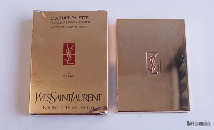 YSL Afrique #3 Couture Palette Swatch and Review