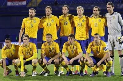 Skuad Swedia Euro 2012