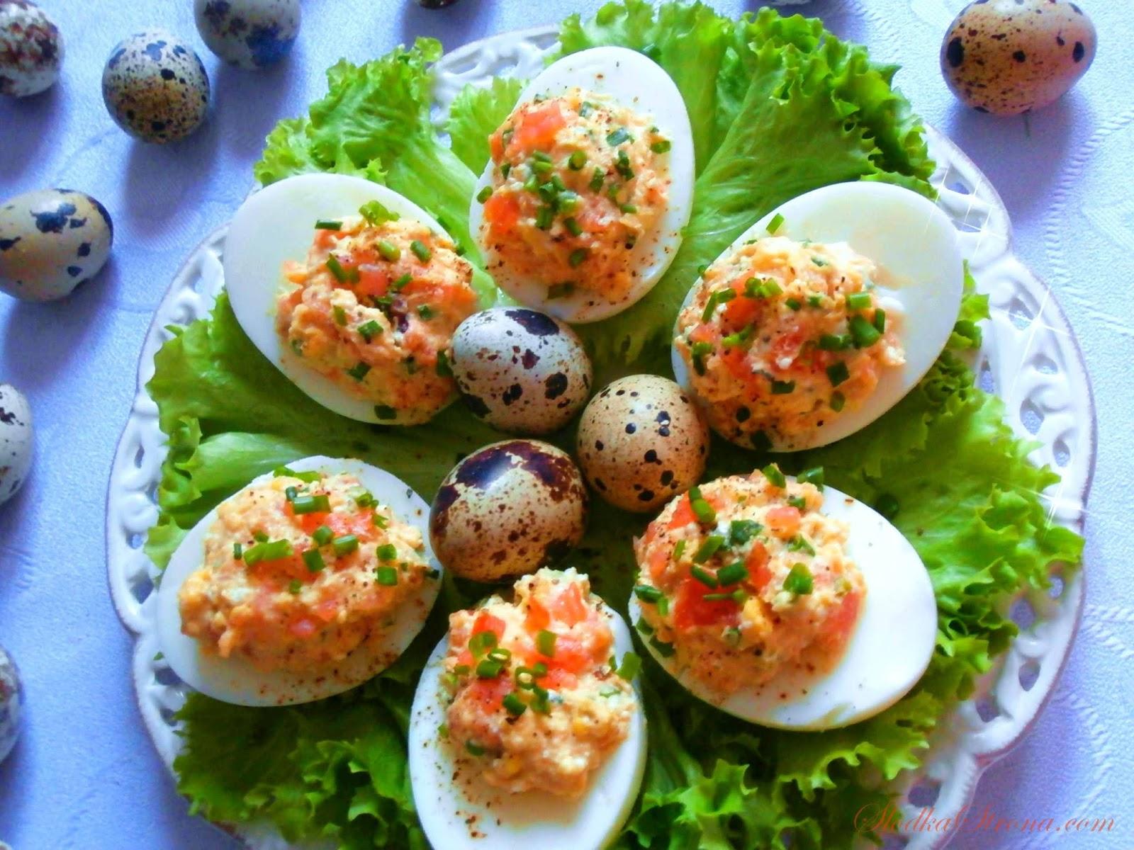 Jaja faszerowane pastą z Łososia Wędzonego - Słodka Strona - Przepis