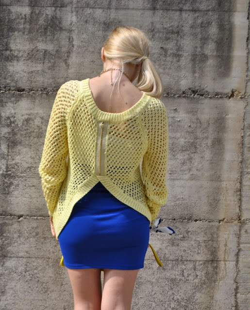 maglia guess gialla outfit giallo outfit blu outfit giallo e blu come abbinare il giallo abbinamenti giallo come abbinare il blu abbinamenti blu mariafelicia magno fashion blogger colorblock by felym mariafelicia magno fashion blogger outfit primaverili outfit maggio 2015 outfit gonna blu come abbinare la gonna blu abbinamenti gonna blu blue outfit yellow outfit yellow swaeter blue skirt spring outfit fashion bloggers italy maglione giallo outfit gonna blu blog di moda blogger italiane di moda milano guess majique massimiliano incas