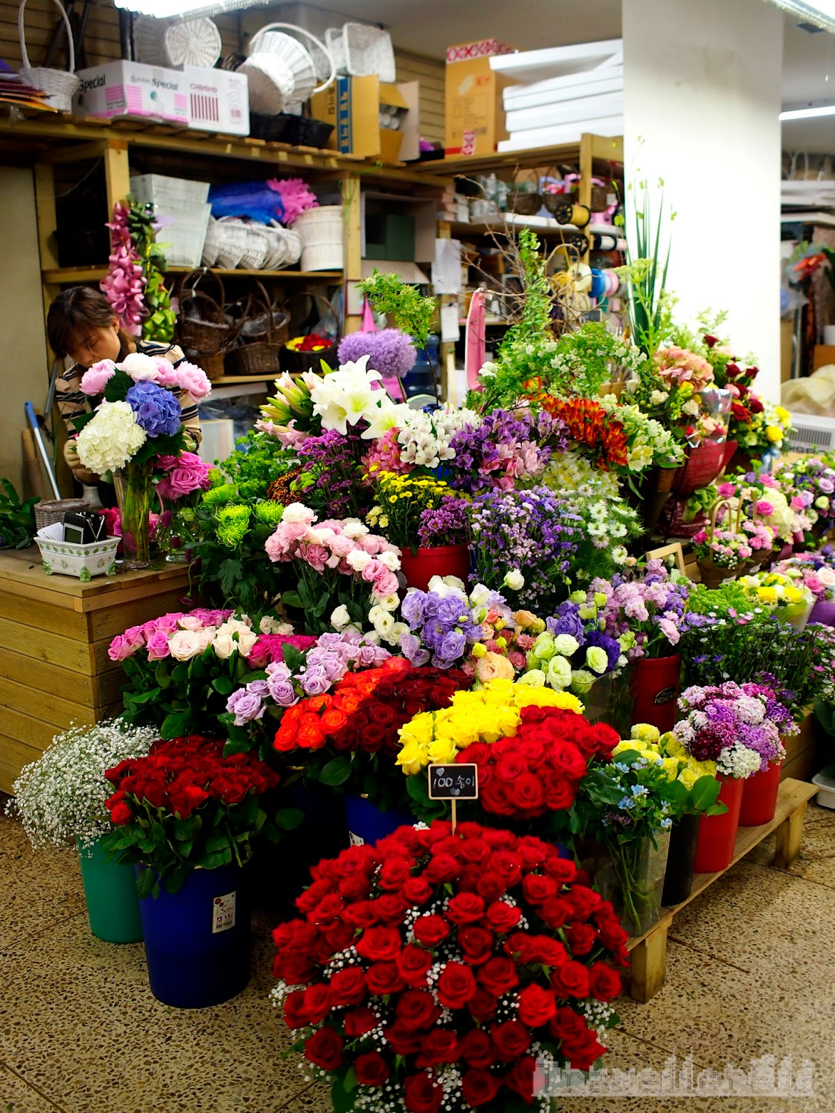 the basement market sells ready made bouquets or you can pick the