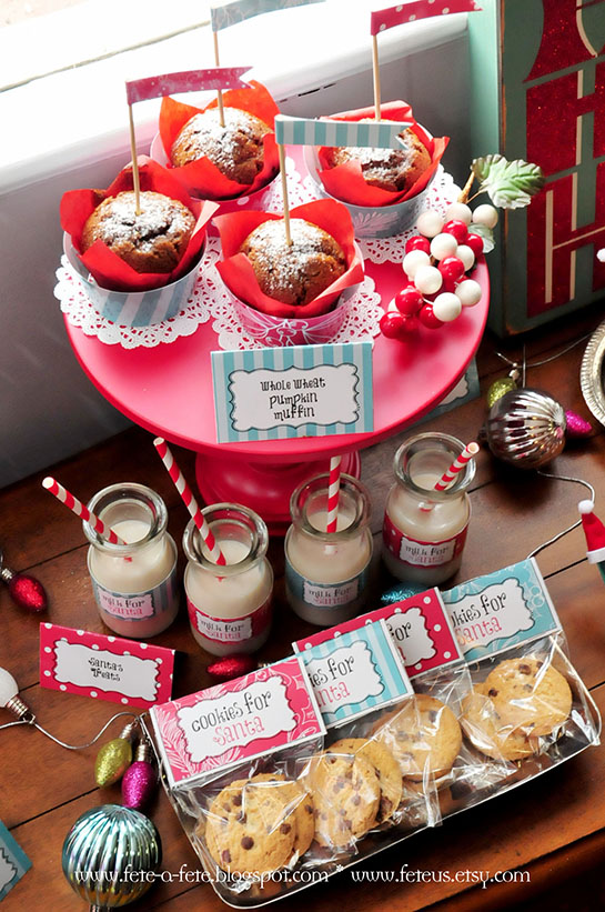 Retro Christmas Party Ideas Part - 48: Fete A Fete