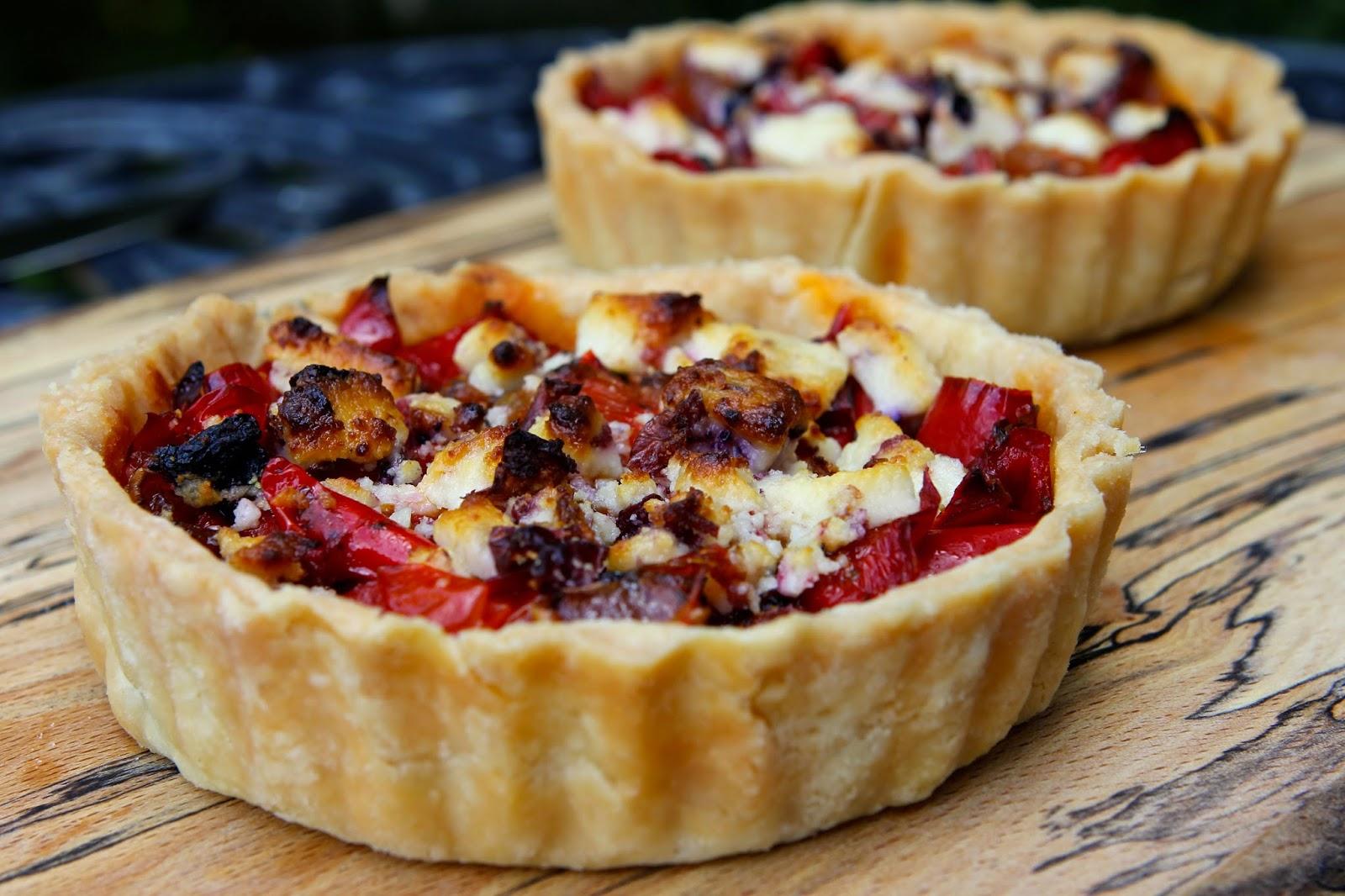 Gluten Free Alchemist: Savoury Summer Roasted Red Pepper & Tomato Tart ...